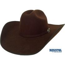 Chapeu Cowboy Resistol 4x Longhorn Importado Marron Feltro