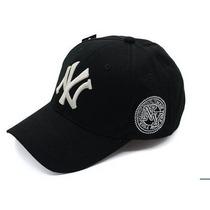 Boné New York Yankess Aba Curva Mlb Hip Hop - Importado