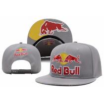 Boné Red Bull Snapback Aba Reta Importado | Frete Grátis