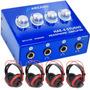 Arcano Retorno Palco Amp De Fones Hae-4-studio + 4 Fones