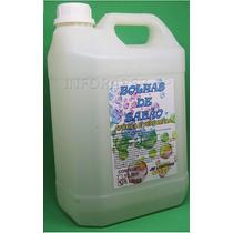 Fluido \ Liquido Para Maquina Bolha De Sabão Galão 5 Litros