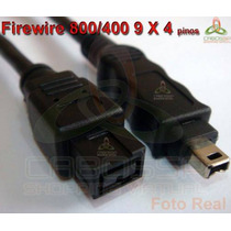 Cabo Firewire 800/400 De 9 X 4 Pinos Ieee1394b 3,00 Metros