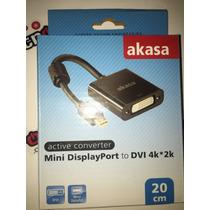 Adaptador Cabo Conversor Mini Displayport Dvi Akasa- Mac