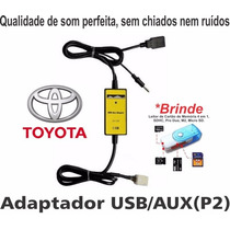 Adaptador Usb Toyota Corolla Hilux Interface Cabo Pen Drive