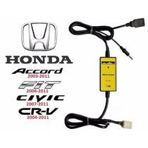 Adaptador Interface Usb Aux Honda New Civic Crv Fit Accord F