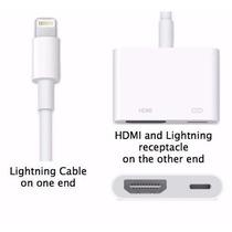 Adaptador Lightning Av Digital/hdmi Iphone 5 E 6 Ipad Ipod
