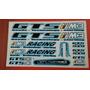 Cartela Adesivo Para Bicicleta Gts M3 Pto/bco/azul