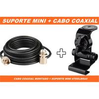 Suporte Mini + Cabo Coaxial 5,475 Steelbras Rádio Px Uhf Vhf