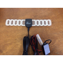 Antena Amplificada Automotiva P/ Tv Digital E Fm Com Booster