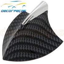 Antena Teto Tubarão Shark Carbono Com Cromado Nova