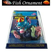 Enfeite De Resina Soma Golfinho Com Bolhas Fish Ornament