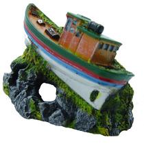 Enfeite Para Aquario Barco Pesqueiro - Aquaria B07