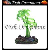 Enfeite Soma Planta Palmeirinha Verde 4 Cm Fish Ornament