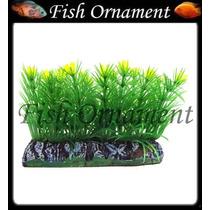 Enfeite Soma Planta Tapete C Flor Amarela 6cm Fish Ornament