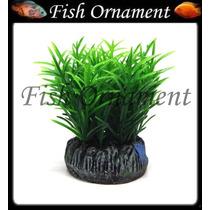 Enfeite Soma Planta Redonda Grama Verde 4cm Fish Ornament