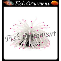 Enfeite Silicone Soma Anemona M Branca Fish Ornament