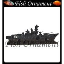 Enfeite Resina Soma Naufragio Navio De Guerra Fish Ornament