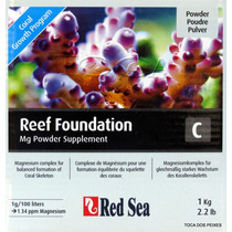 Red Sea Reef Foundation C 1kg Mg Suplemento Magnesio Corais