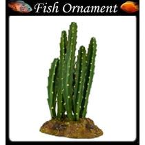 Soma 055211 Enfeite Resina Planta Cactus 103 Fish Ornament