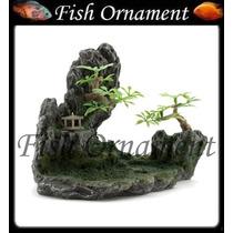 Resina Soma Rocha Com Pedra Porosa Hill 02 Fish Ornament