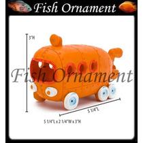 Enfeite Penn Plax Onibus Bob Esponja Sbr60 Fish Ornament