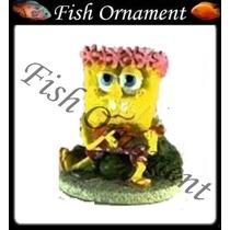 Enfeite Penn Plax Bob Esponja Ukulele Fish Ornament