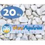 Pedras Para Jardins, 20 Kg Seixo Branco, Decoração, Aquário