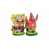 Enfeite Nickelodeon Turma Bob Esponja Bob E Patrick (sbcp1)