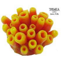 Enfeite De Silicone Soma Coral Esponja Amarela 070723