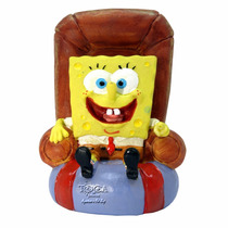 Enfeite De Resina Bob Esponja Na Cadeira Sbr20