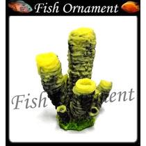 Enfeite Silicone Soma Espoja Tubo Amarela Fish Ornament