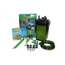 Filtro Canister Jebo 828 - 1200 L/h - Verde - Para Aquarios