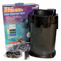 Filtro Canister Atman Cf 3400 Com Bomba 2500 L/h