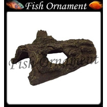 Enfeite De Resina Soma Tronco Tunel 04 Fish Ornament