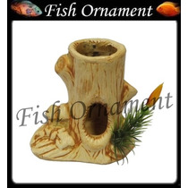 Enfeite Aquario Ceramica Tronco Arvore Env Fish Ornament