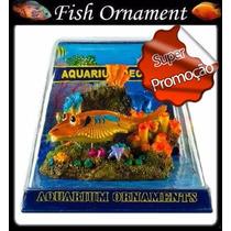 Enfeite De Resina Soma Action Arraia Com Bolhas Fish Ornamen