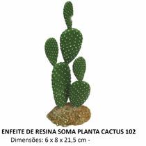 Soma Enfeite De Resina Para Aquário Planta Cactus