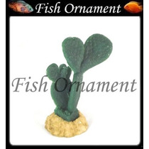 Soma 076503 Enfeite Resina Planta Cactus 08 Fish Ornament