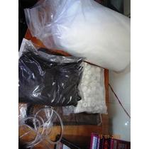 Kit Completo De Carvão Ativo, Cerâmica E Lã Para Aquários