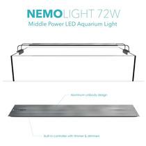 Luminária Aquário Marinho Aquamarine Nemo Light 72w 144 Leds