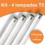 Kit 4 Lampadas T5 39w Hopar - 2 Brancas 2 Rosas