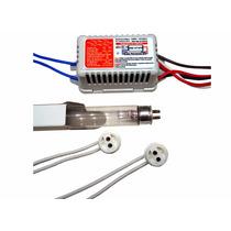 Kit Reator + Lâmpada Uv T5 8w + Soquetes