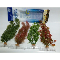 Plantas Artificiais Para Aquários - Kit Com 4 Plantas - 45 C