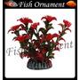 Enfeite Soma Planta Alternanthera Vermel 13cm Fish Ornament