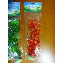 Plantas Artificiais Para Aquários G 29 Cm Mini Kit Com 04 Un