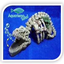 Enfeite Resina Soma Action Dinossauro C Movimento P Aquário