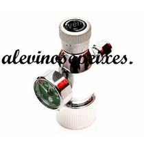 Válvula Reguladora Co2 Ajuste Fino C/ Manômetro Up 148 R 3/4