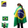 Bandeira Brasil Oficial De Vestir 1,40 X 0,90 Cm.