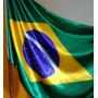 Bandeira Oficial Do Brasil Em Cetim - Tam.113x161cm