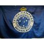 Bandeira Cetim Cruzeiro Tetra Campeão Torcedor 146cm X 98cm